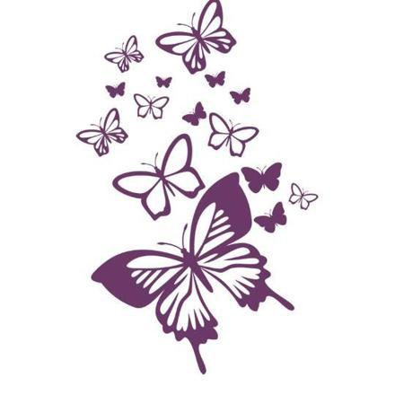 arabesque papillon violet