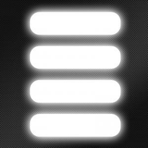 autocollant reflechissant casque transparent
