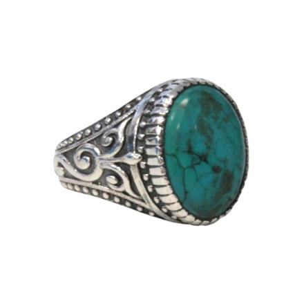 bague turquoise homme
