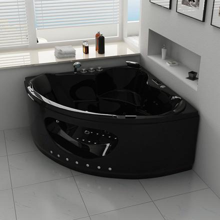 baignoire d'angle noire