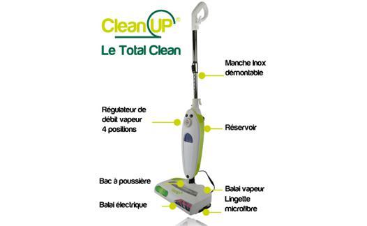 balai vapeur total clean