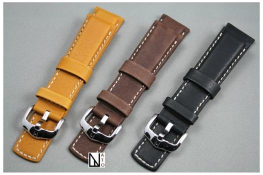 bracelet montre cuir 25mm
