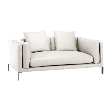canapé cuir blanc 2 places