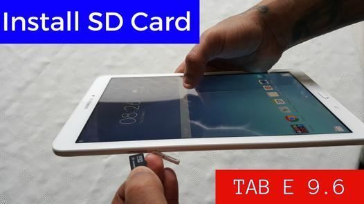carte sd galaxy tab a