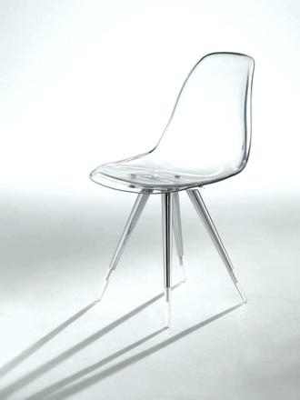 chaise design plexi transparent