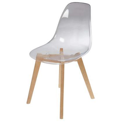 chaise transparente maison du monde
