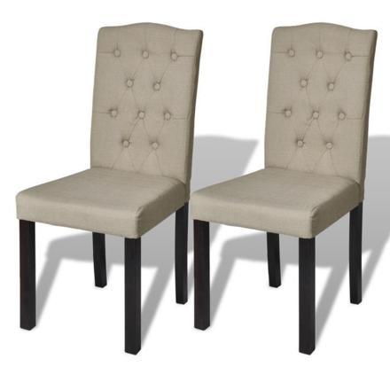 chaises capitonnées