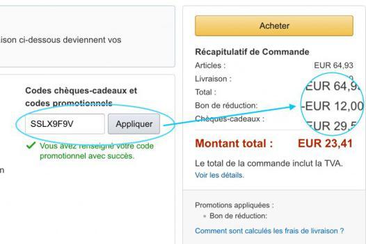code bon de reduction amazon