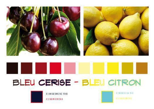 couleur bleu cerise