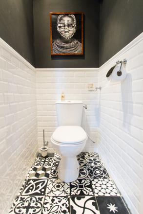 deco toilette noir et blanc