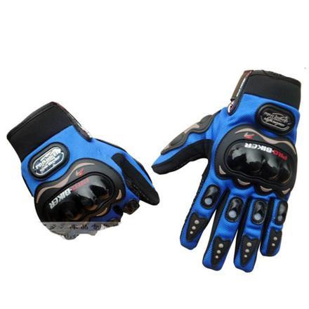 gant moto bleu