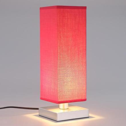 lampe de chevet rouge