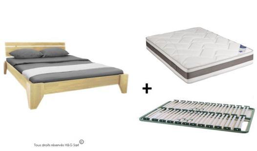 lit 2 places avec matelas