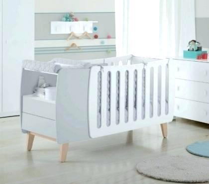 lit bebe avec table a langer integree