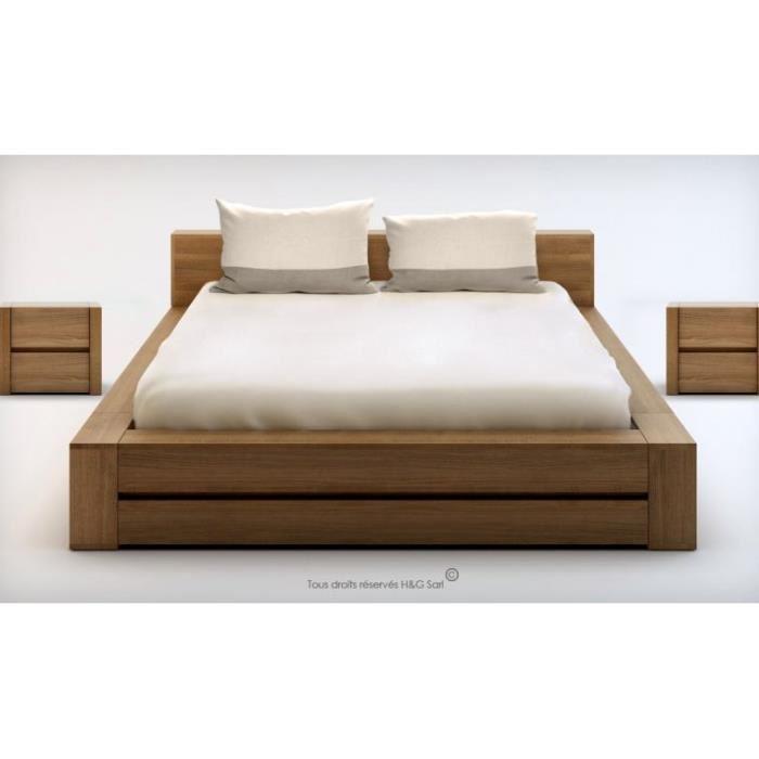 lit en bois 160x200