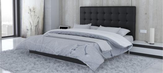 lit matelassé noir