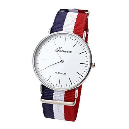 montre bleu blanc rouge