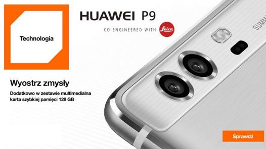 orange huawei p9