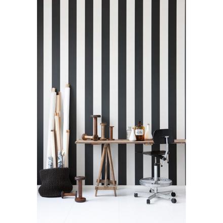 papier peint rayé noir et blanc