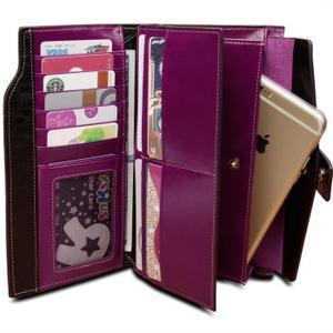 portefeuille femme grand format