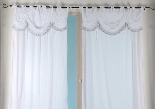 rideau romantique blanc