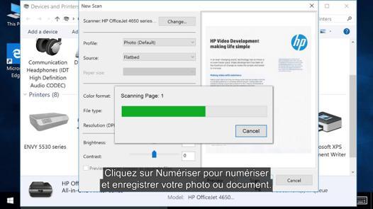 scanner un document avec windows 10