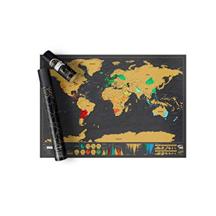 scratch map amazon