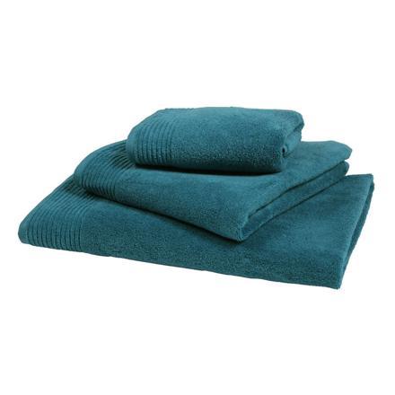serviette de bain bleu canard