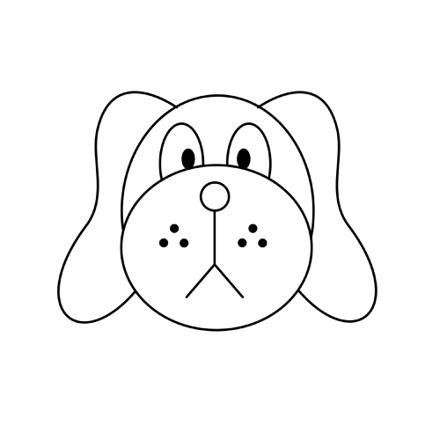 tete de chien dessin