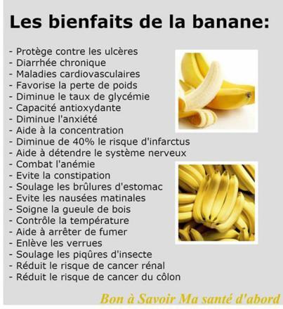 banane bienfaits