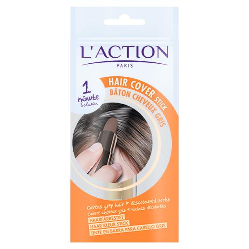 baton cheveux gris