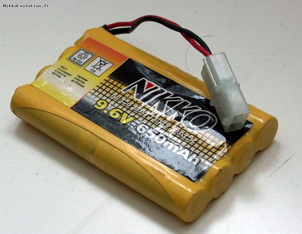batterie 9.6v nikko