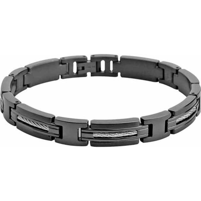bracelet acier noir