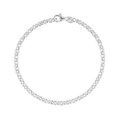 bracelet argent femme maille
