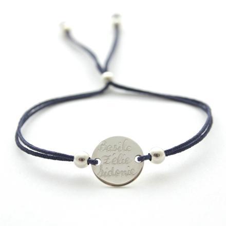 bracelet cordon femme personnalisé