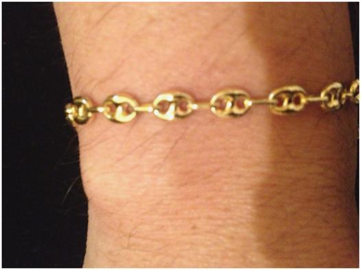 bracelet grain de café or 18 carats