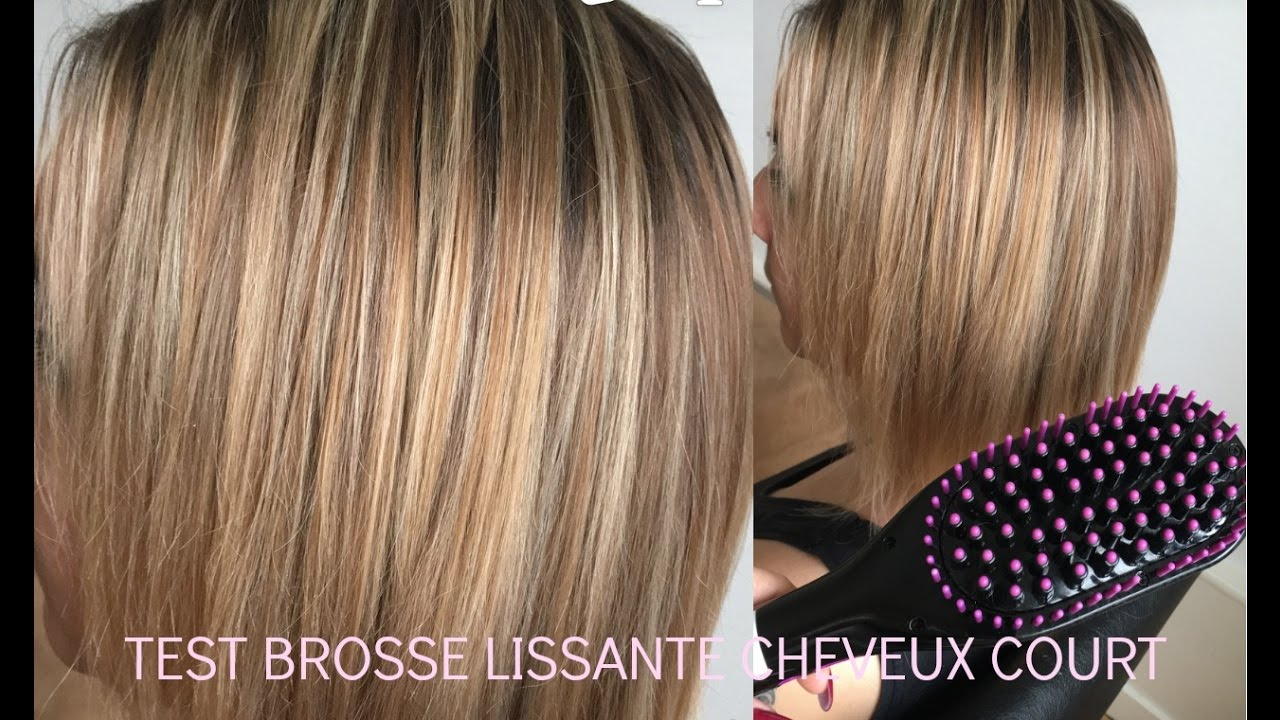 brosse lissante cheveux courts