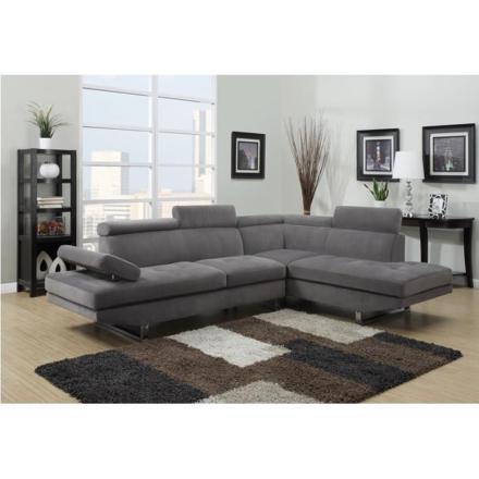 canapé d angle gris tissu