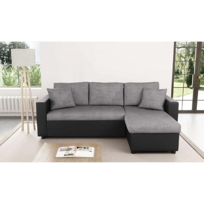 canapé gris et noir