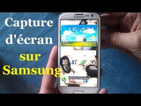 capture d écran samsung galaxy core