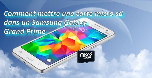 carte micro sd samsung grand prime