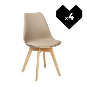 chaise scandinave marron