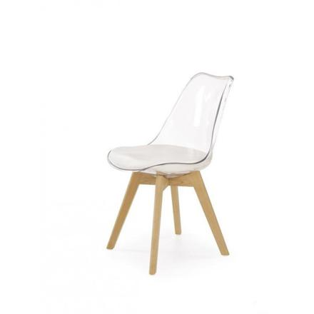 chaise transparente scandinave