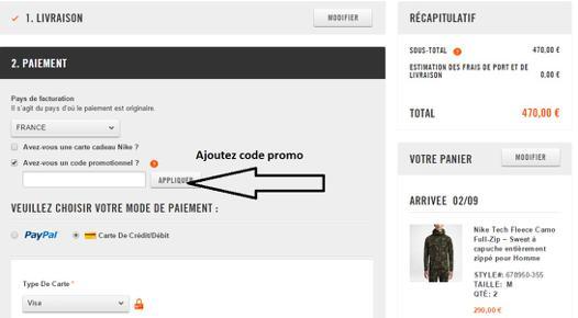 code promo site