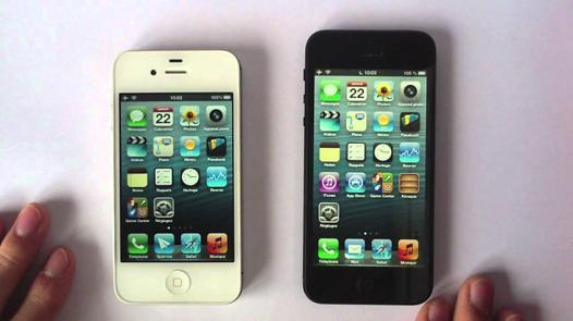 comparaison iphone 4s et 5s