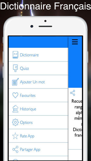 dictionnaire iphone