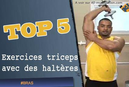 exercice triceps haltere