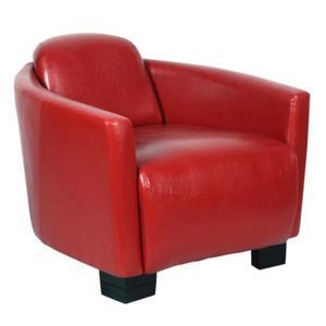 fauteuil club rouge pas cher