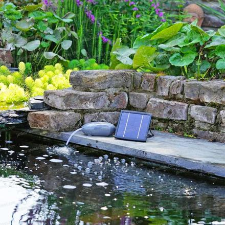 fontaine de bassin solaire