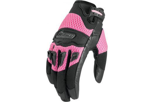 gant moto femme rose